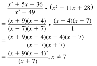 Big Ideas Math Algebra 2 Solutions Chapter 7 Rational Functions 7.3 a 19