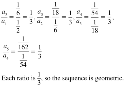 Big Ideas Math Algebra 2 Solutions Chapter 8 Sequences and Series 8.3 a 11