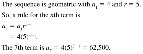 Big Ideas Math Algebra 2 Solutions Chapter 8 Sequences and Series 8.3 a 15