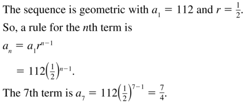 Big Ideas Math Algebra 2 Solutions Chapter 8 Sequences and Series 8.3 a 17