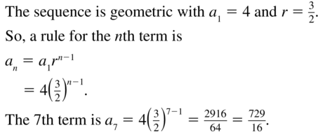 Big Ideas Math Algebra 2 Solutions Chapter 8 Sequences and Series 8.3 a 19