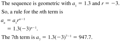 Big Ideas Math Algebra 2 Solutions Chapter 8 Sequences and Series 8.3 a 21