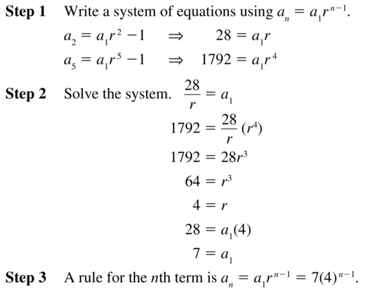 Big Ideas Math Algebra 2 Solutions Chapter 8 Sequences and Series 8.3 a 33