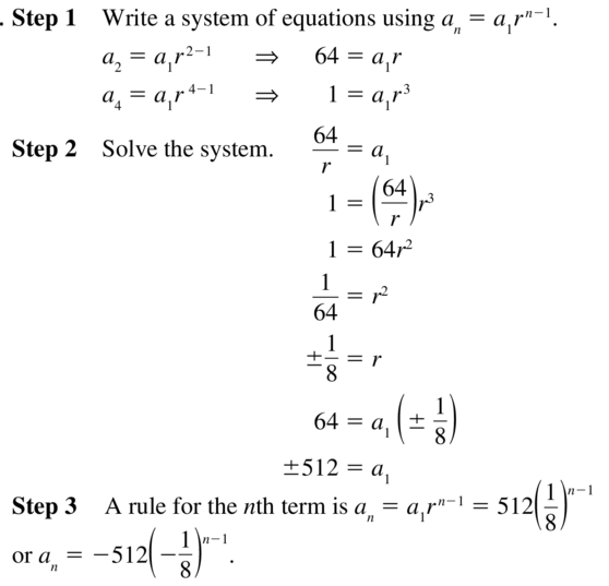 Big Ideas Math Algebra 2 Solutions Chapter 8 Sequences and Series 8.3 a 37