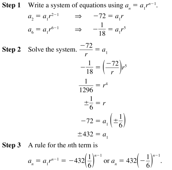 Big Ideas Math Algebra 2 Solutions Chapter 8 Sequences and Series 8.3 a 39