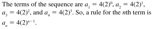 Big Ideas Math Algebra 2 Solutions Chapter 8 Sequences and Series 8.3 a 41