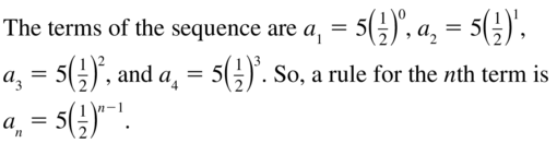 Big Ideas Math Algebra 2 Solutions Chapter 8 Sequences and Series 8.3 a 43