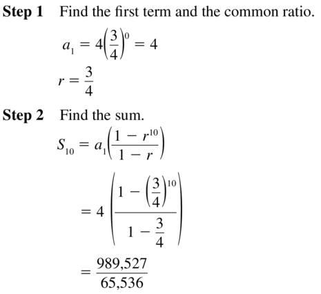 Big Ideas Math Algebra 2 Solutions Chapter 8 Sequences and Series 8.3 a 49