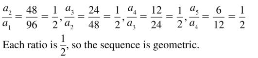 Big Ideas Math Algebra 2 Solutions Chapter 8 Sequences and Series 8.3 a 5