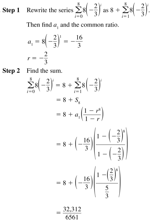 Big Ideas Math Algebra 2 Solutions Chapter 8 Sequences and Series 8.3 a 51