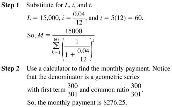 Big Ideas Math Algebra 2 Solutions Chapter 8 Sequences and Series 8.3 a 57