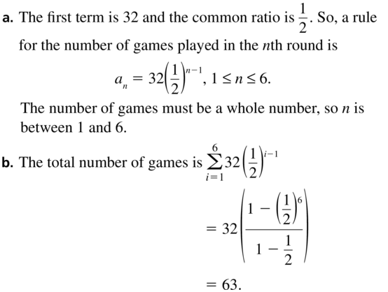 Big Ideas Math Algebra 2 Solutions Chapter 8 Sequences and Series 8.3 a 59