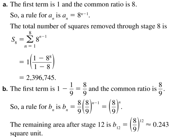 Big Ideas Math Algebra 2 Solutions Chapter 8 Sequences and Series 8.3 a 61