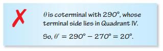 Big Ideas Math Algebra 2 Solutions Chapter 9 Trigonometric Ratios and Functions 9.3 13