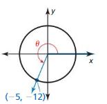 Big Ideas Math Algebra 2 Solutions Chapter 9 Trigonometric Ratios and Functions 9.3 5