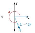 Big Ideas Math Algebra 2 Solutions Chapter 9 Trigonometric Ratios and Functions 9.3 7