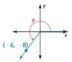 Big Ideas Math Algebra 2 Solutions Chapter 9 Trigonometric Ratios and Functions 9.3 8