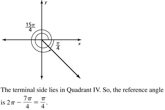 Big Ideas Math Algebra 2 Solutions Chapter 9 Trigonometric Ratios and Functions 9.3 a 19