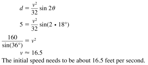 Big Ideas Math Algebra 2 Solutions Chapter 9 Trigonometric Ratios and Functions 9.3 a 35