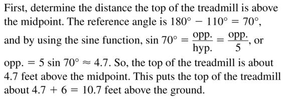 Big Ideas Math Algebra 2 Solutions Chapter 9 Trigonometric Ratios and Functions 9.3 a 37