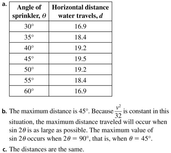 Big Ideas Math Algebra 2 Solutions Chapter 9 Trigonometric Ratios and Functions 9.3 a 39