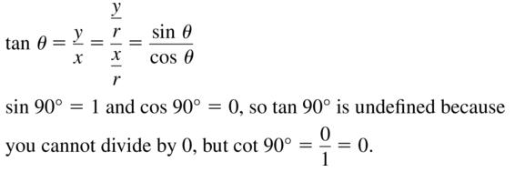 Big Ideas Math Algebra 2 Solutions Chapter 9 Trigonometric Ratios and Functions 9.3 a 43