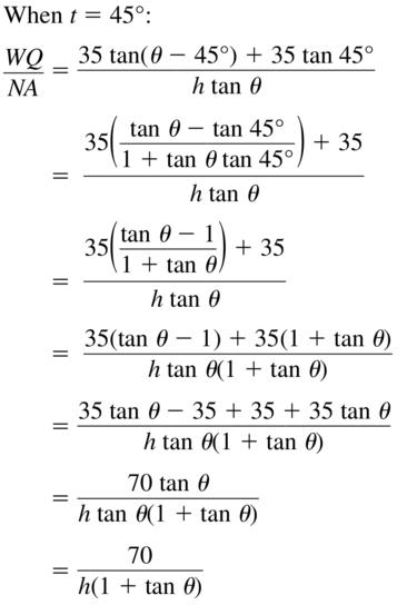 Big Ideas Math Algebra 2 Solutions Chapter 9 Trigonometric Ratios and Functions 9.8 a 35