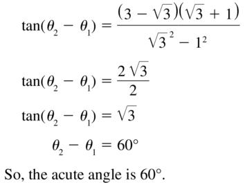 Big Ideas Math Algebra 2 Solutions Chapter 9 Trigonometric Ratios and Functions 9.8 a 39.2