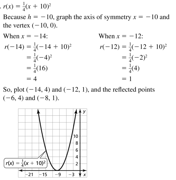 Big Ideas Math Answer Key Algebra 1 Chapter 8 Graphing Quadratic Functions 8.4 a 25.1