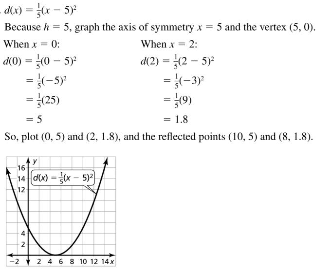 Big Ideas Math Answer Key Algebra 1 Chapter 8 Graphing Quadratic Functions 8.4 a 27.1
