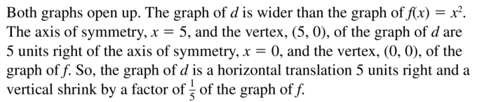 Big Ideas Math Answer Key Algebra 1 Chapter 8 Graphing Quadratic Functions 8.4 a 27.2