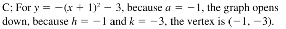 Big Ideas Math Answer Key Algebra 1 Chapter 8 Graphing Quadratic Functions 8.4 a 35
