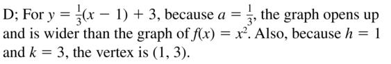 Big Ideas Math Answer Key Algebra 1 Chapter 8 Graphing Quadratic Functions 8.4 a 37