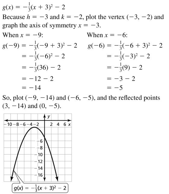 Big Ideas Math Answer Key Algebra 1 Chapter 8 Graphing Quadratic Functions 8.4 a 43.1