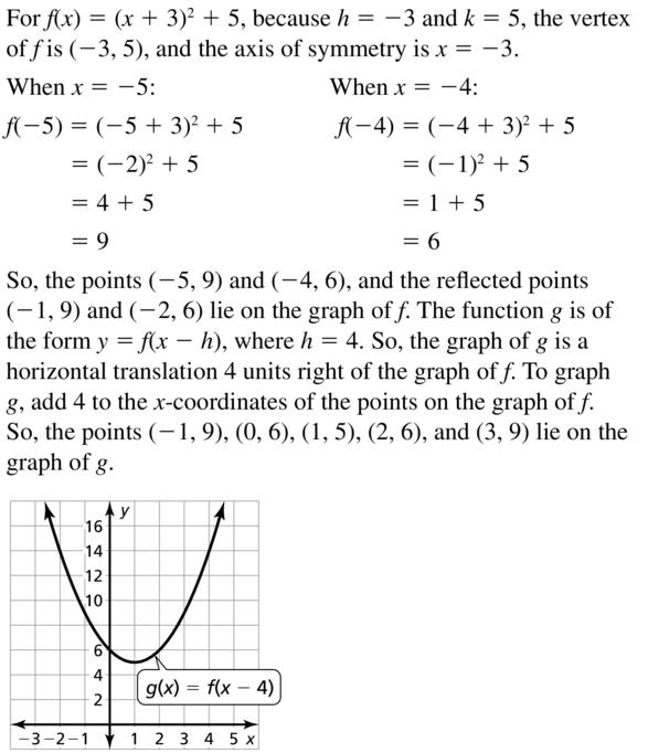 Big Ideas Math Answer Key Algebra 1 Chapter 8 Graphing Quadratic Functions 8.4 a 53