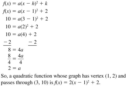 Big Ideas Math Answer Key Algebra 1 Chapter 8 Graphing Quadratic Functions 8.4 a 57