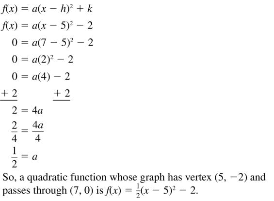 Big Ideas Math Answer Key Algebra 1 Chapter 8 Graphing Quadratic Functions 8.4 a 61