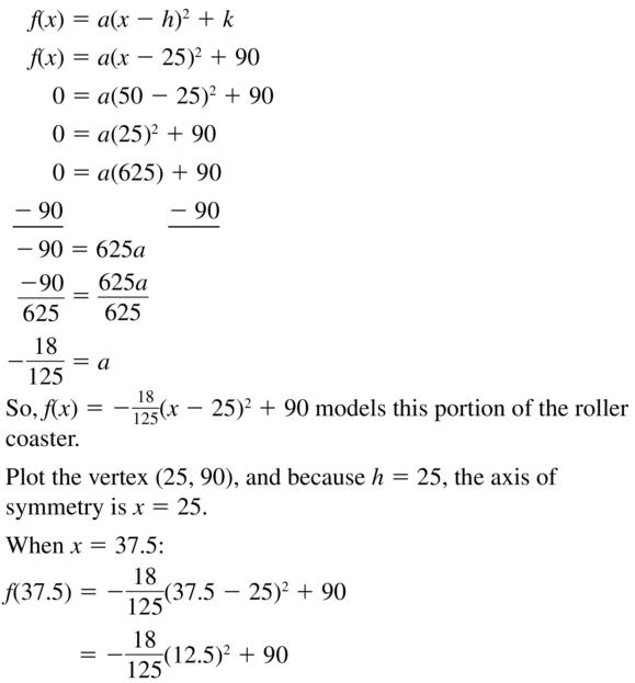 Big Ideas Math Answer Key Algebra 1 Chapter 8 Graphing Quadratic Functions 8.4 a 63.1