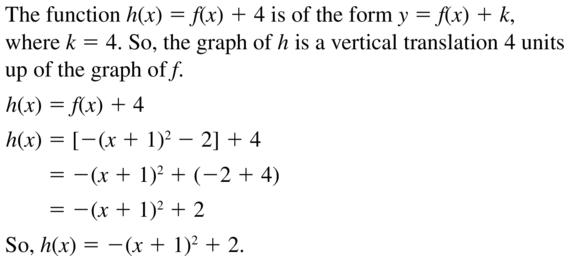 Big Ideas Math Answer Key Algebra 1 Chapter 8 Graphing Quadratic Functions 8.4 a 71