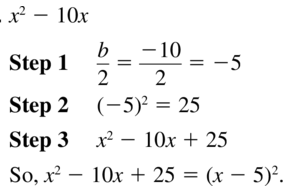 Big Ideas Math Answer Key Algebra 1 Chapter 9 Solving Quadratic Equations 9.4 a 11