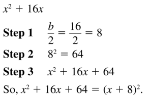 Big Ideas Math Answer Key Algebra 1 Chapter 9 Solving Quadratic Equations 9.4 a 13
