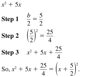 Big Ideas Math Answer Key Algebra 1 Chapter 9 Solving Quadratic Equations 9.4 a 15