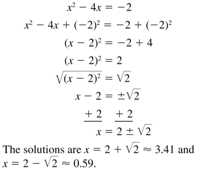 Big Ideas Math Answer Key Algebra 1 Chapter 9 Solving Quadratic Equations 9.4 a 19