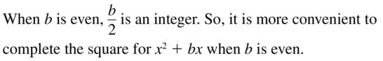 Big Ideas Math Answer Key Algebra 1 Chapter 9 Solving Quadratic Equations 9.4 a 3