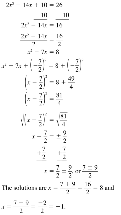 Big Ideas Math Answer Key Algebra 1 Chapter 9 Solving Quadratic Equations 9.4 a 31