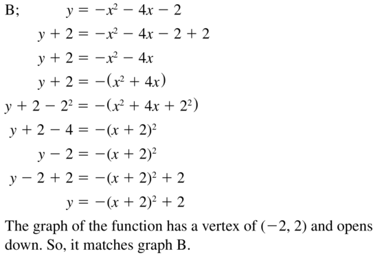 Big Ideas Math Answer Key Algebra 1 Chapter 9 Solving Quadratic Equations 9.4 a 39