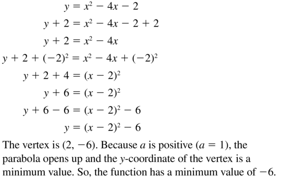 Big Ideas Math Answer Key Algebra 1 Chapter 9 Solving Quadratic Equations 9.4 a 41
