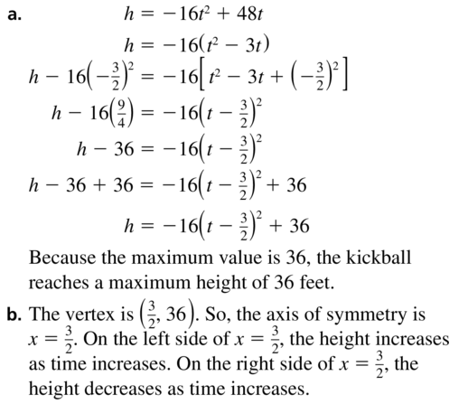 Big Ideas Math Answer Key Algebra 1 Chapter 9 Solving Quadratic Equations 9.4 a 53