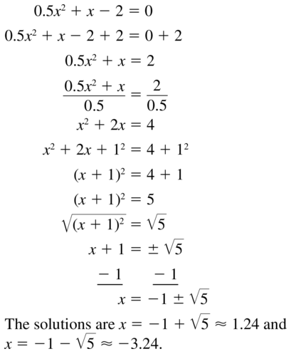 Big Ideas Math Answer Key Algebra 1 Chapter 9 Solving Quadratic Equations 9.4 a 59