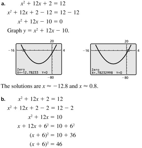 Big Ideas Math Answer Key Algebra 1 Chapter 9 Solving Quadratic Equations 9.4 a 67.1
